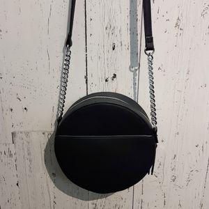 Madison West Black Round Handbag